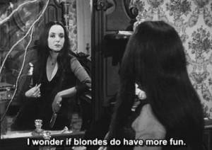 (black and white,addams family,morticia,subtitles,quote ...