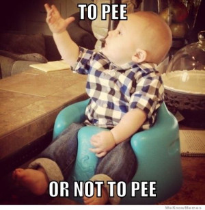 Shakespeare Baby – To pee or not to pee