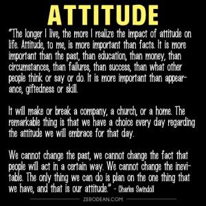 The impact of attitude'