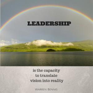 photo credit – Quote: Warren Bennis – Leadership