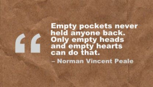 ... Back,Only Empty Heads And Empty Hearts Can Do That - Achievement Quote