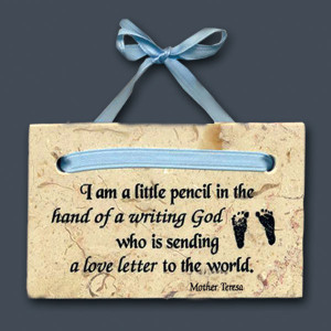 Quotes About Baby Boys And Mothers Baby boy plaque (mother teresa