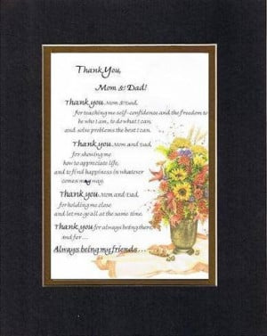 Touching and Heartfelt Poem for Parents - Thank You, Mom and Dad Poem ...