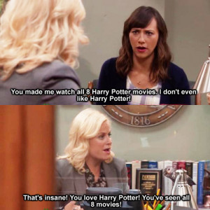 harry potter parks and rec amy poehler rashida jones funny pic
