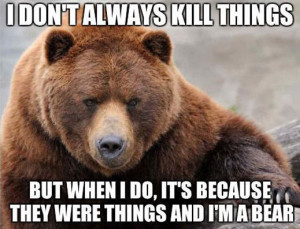 Brown Bear Talks About Its Conquests In Realist Meme