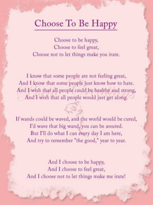 Inspirational poems, quotes, sayings, be happy