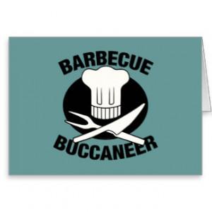 BBQ Buccaneer Greeting Card