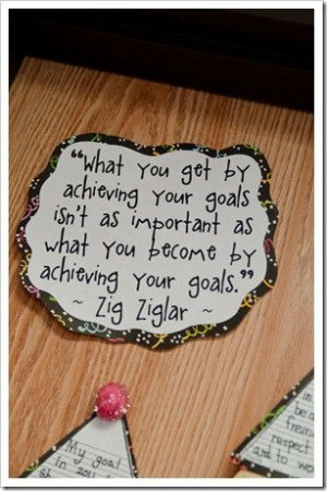 Perfect for New Years! This achieving goals Zig Ziglar quote is also ...