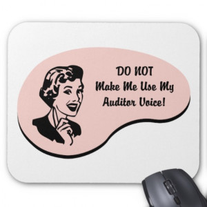 Rude Auditor Nickname - Auditaholic Mouse Pads