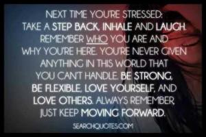 Take a step back (: