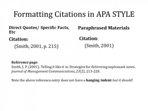 Citing page numbers apa