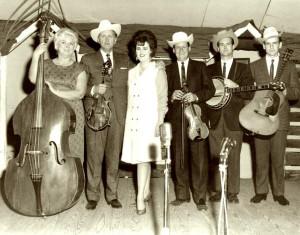 ... to Right: Bessie Le Mauldin, Bill Monroe,Melissa Monroe, Joe Stuart