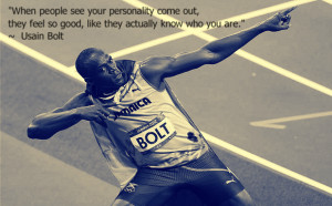 Usain Bolt quote on personality