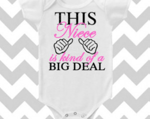 This Niece is kind of a Big Deal CU STOMIZE Font Color Bodysuit by ...