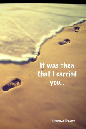 Related to Footprints in the Sand Poem | Beautiful Poem from Only the
