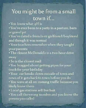 Are you from a small town??