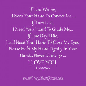Sweet love quotes, hold my hands, cute love sayings, I love you quotes
