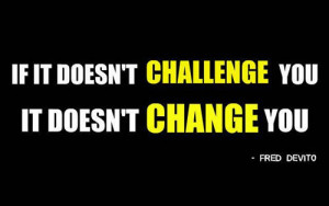 Challenge is a step forward
