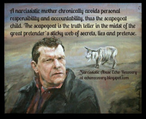 Scapegoat paintingby Markus Anderson with Gail Meyers quote