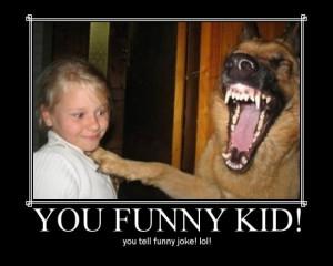 funny kid tells joke to dog - more funny ass pics
