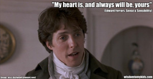 Love quotes from sense and sensibility