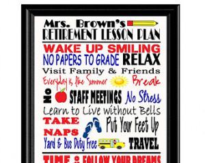 Goodbye Quotes For Teachers Teacher retirement gift