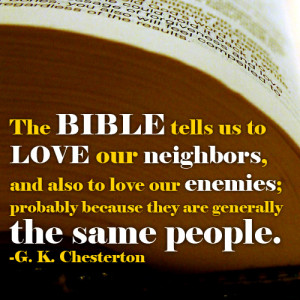 Quotes: G.K. Chesterton @ the Bible
