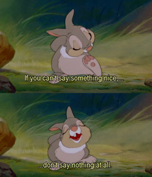 bambi, cute, disney, movie, quote, thumper, true
