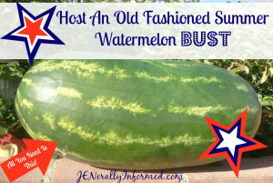 decided it was time to host my very own backyard watermelon bust ...