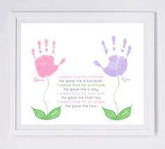 ... hand and footprint art for kids or baby. Mom, Grandma, Mother's Day
