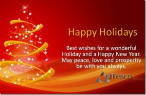 Happy Holiday Wishes Quotes . Happy Holiday Greeting Card Sayings ...