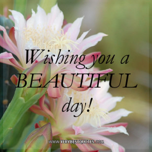 Wishing you a BEAUTIFUL day!