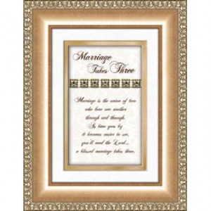 Brands -Wedding Anniversary Gift Marriage Takes Three Poem Framed ...