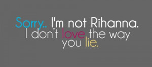 Eminem Love The Way You Lie Quote Rihanna Image
