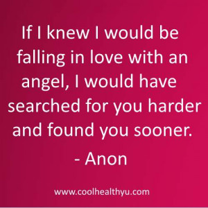cute love quotes for him by Anon images- If I knew I would be falling ...