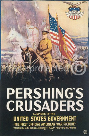 ... Crusaders Vintage World War One WW1 WWI USA Military Propaganda Poster
