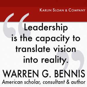 Warren G Bennis - leadership quote