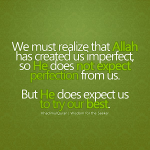 ALLAH Has Created Us Islamic Quote wallpaper