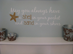 Beach Quotes Wall Decals
