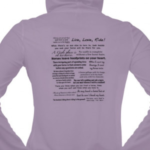 Lavender Horse Quotes Pullover
