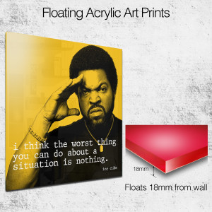 ice cube quote square wall art