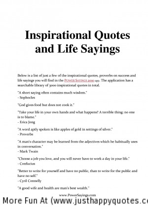 Inspirational Quotes and Sayings, Inspirational Quotes