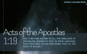 Bible Quote Acts of the Apostles 1:19 Inspirational Hubble Space ...