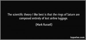 More Mark Russell Quotes