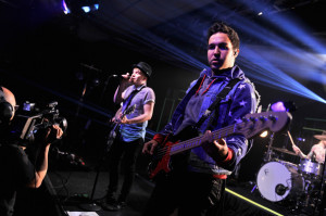 Andy Hurley Fall Out Boy Performs Iheartradio Theater April