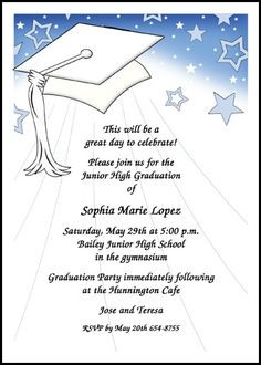 8th Grade Middle School Junior High Graduation Cards