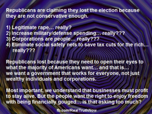 The real truth about why the republicans lost.
