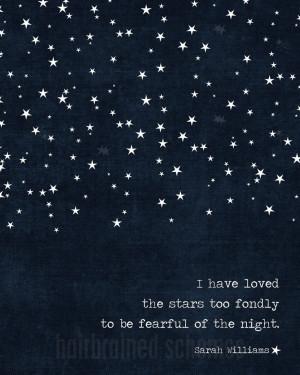 ... Navy Blue Stars Modern Galileo Inspired Quote Print. $15,00, via Etsy