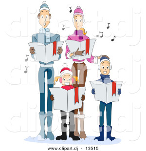 christmas singers clipart