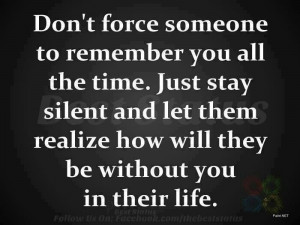 Dont force someone
